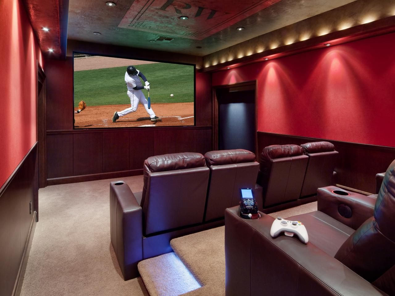 Designer Home Theaters U0026 Media Rooms: Inspirational Pictures | Home  Remodeling   Ideas For Basements