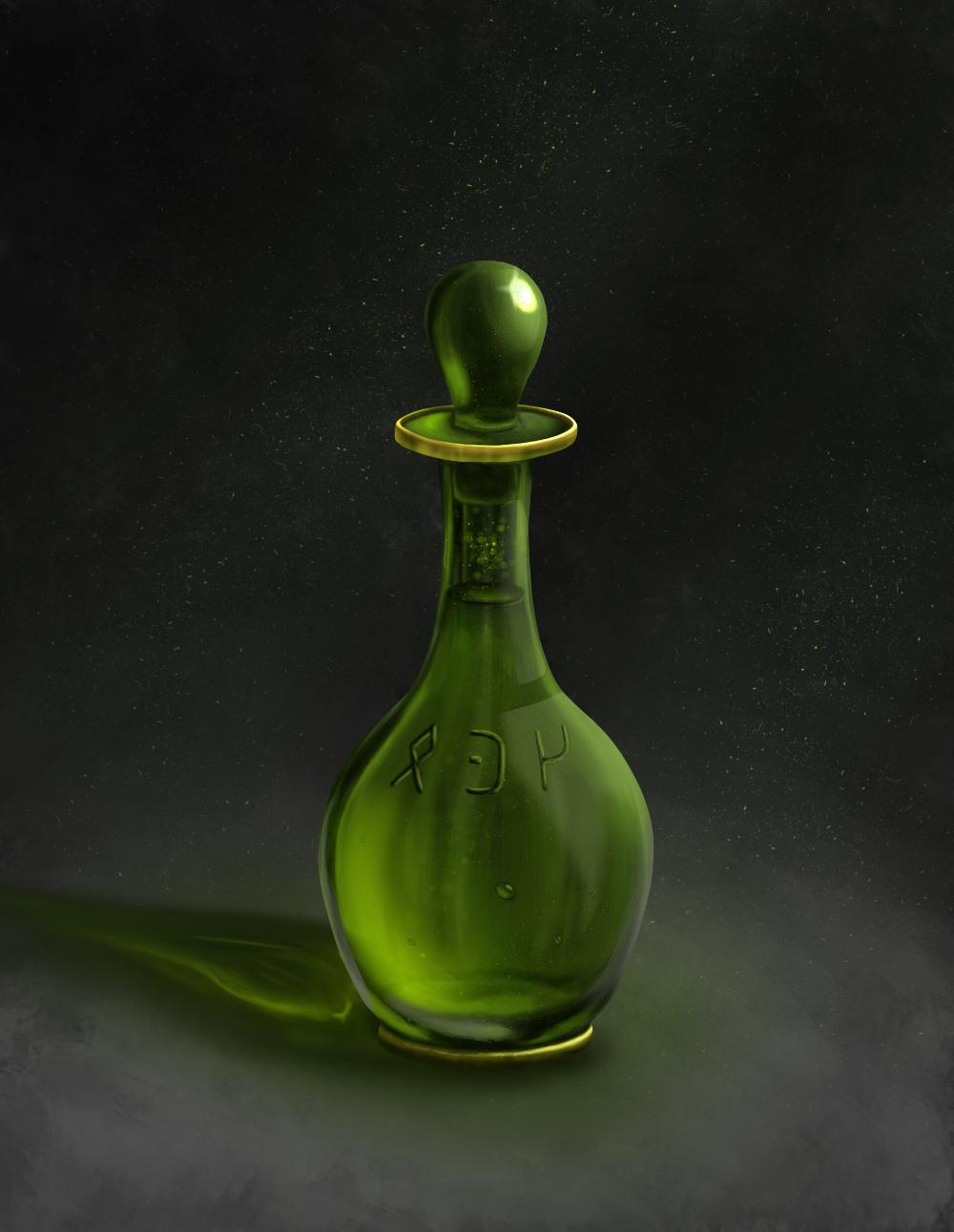 Artstation A Bottle Of Potion Dmitriy Hel Magic Bottles Potions Elements Of Art