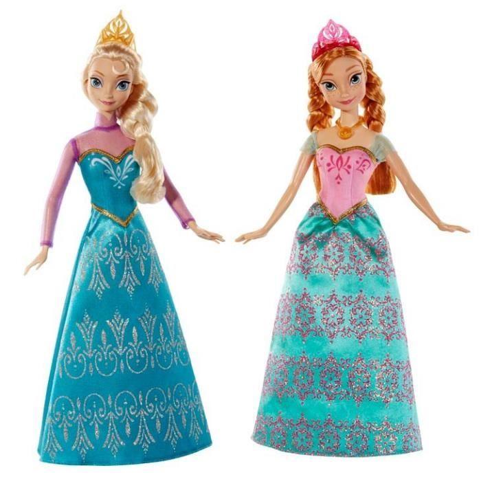 frozen la reine des neiges coffret duo anna elsa - Barbie La Reine Des Neiges