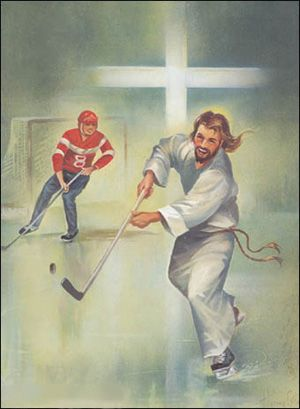 Image result for jesus hockey