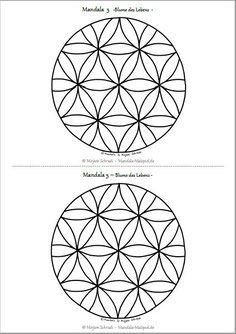 Mandala Ausmalbilder Vorlage Mandalas Zum Ausdrucken Blume Des Lebens Mandala 10 Als Pdf Kost Mandalas Zum Ausdrucken Blume Des Lebens Blume Des Lebens Mandala