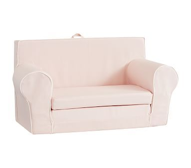 Blush With White Piping Anywhere Sofa Lounger 174 Sofa
