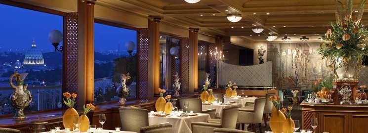 Rome Cavalieri hotel La Pergola Restaurant La Pergola