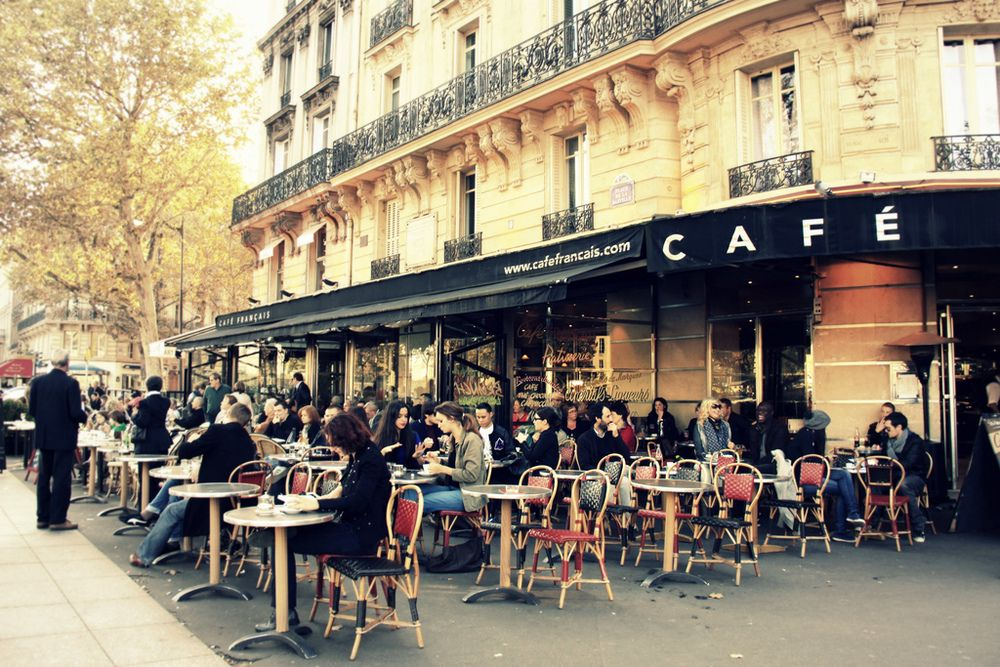 Image result for picture of french cafe in paris