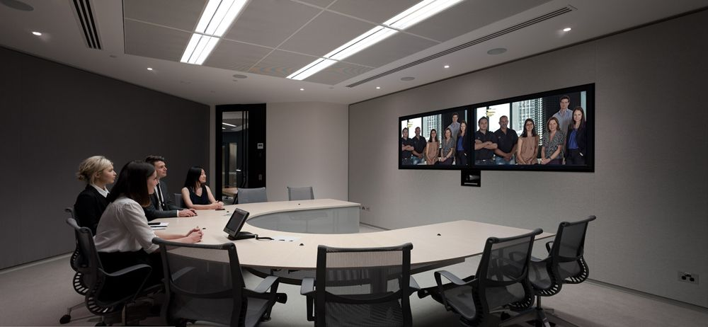 NAB HQ Sydney Telepresence with Herman miller Sayl chairs