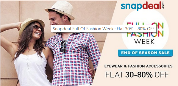 fc814418e40  Snapdeal End of Season Sale Flat 30% - 80% OFF For Men s