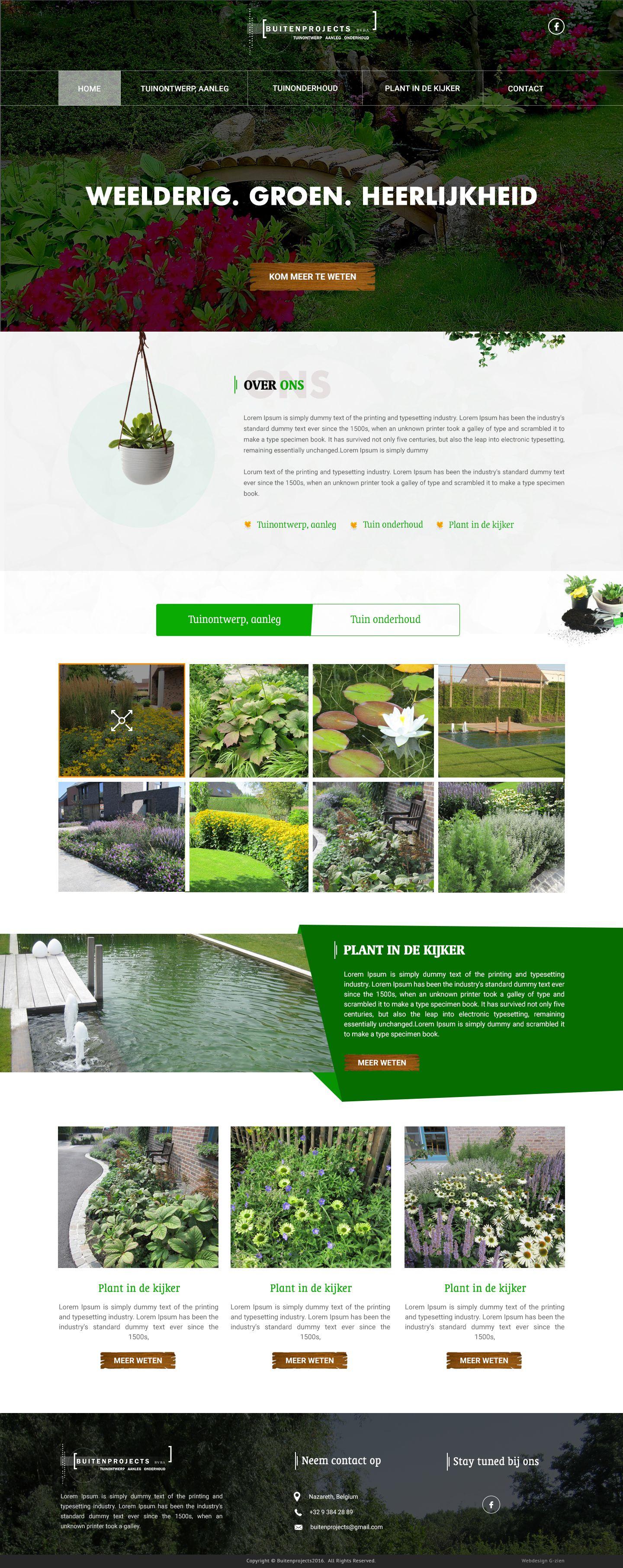 The Best Gardening Website Inspiration By 42works That Also Includes Website Designing Web Graphic Design La Garden Design Layout Garden Layout Garden Design