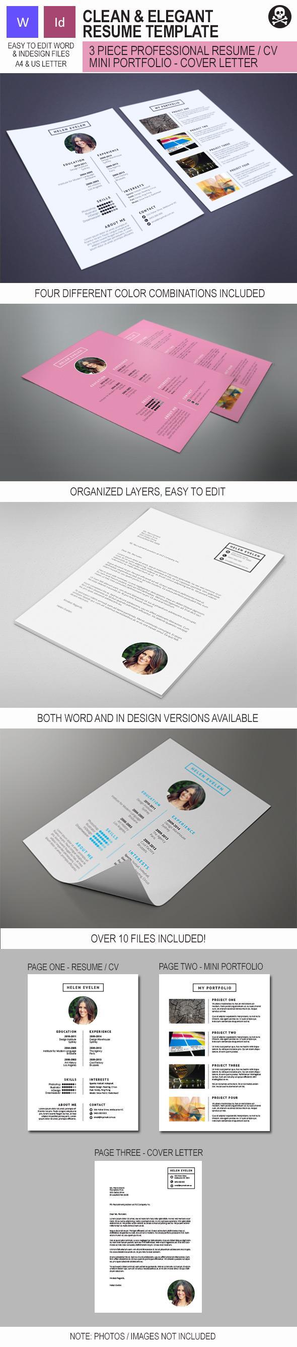 Simple And Elegant Resume Creative Resume Design Cs Template Cv