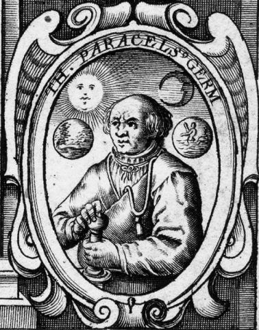 "Born in 1493 under the name Phillippus Aureolus Theophrastus Bombastus von Hohenheim, but later came to call himself Paracelsus, meaning ""greater than or equal to Celsus."""