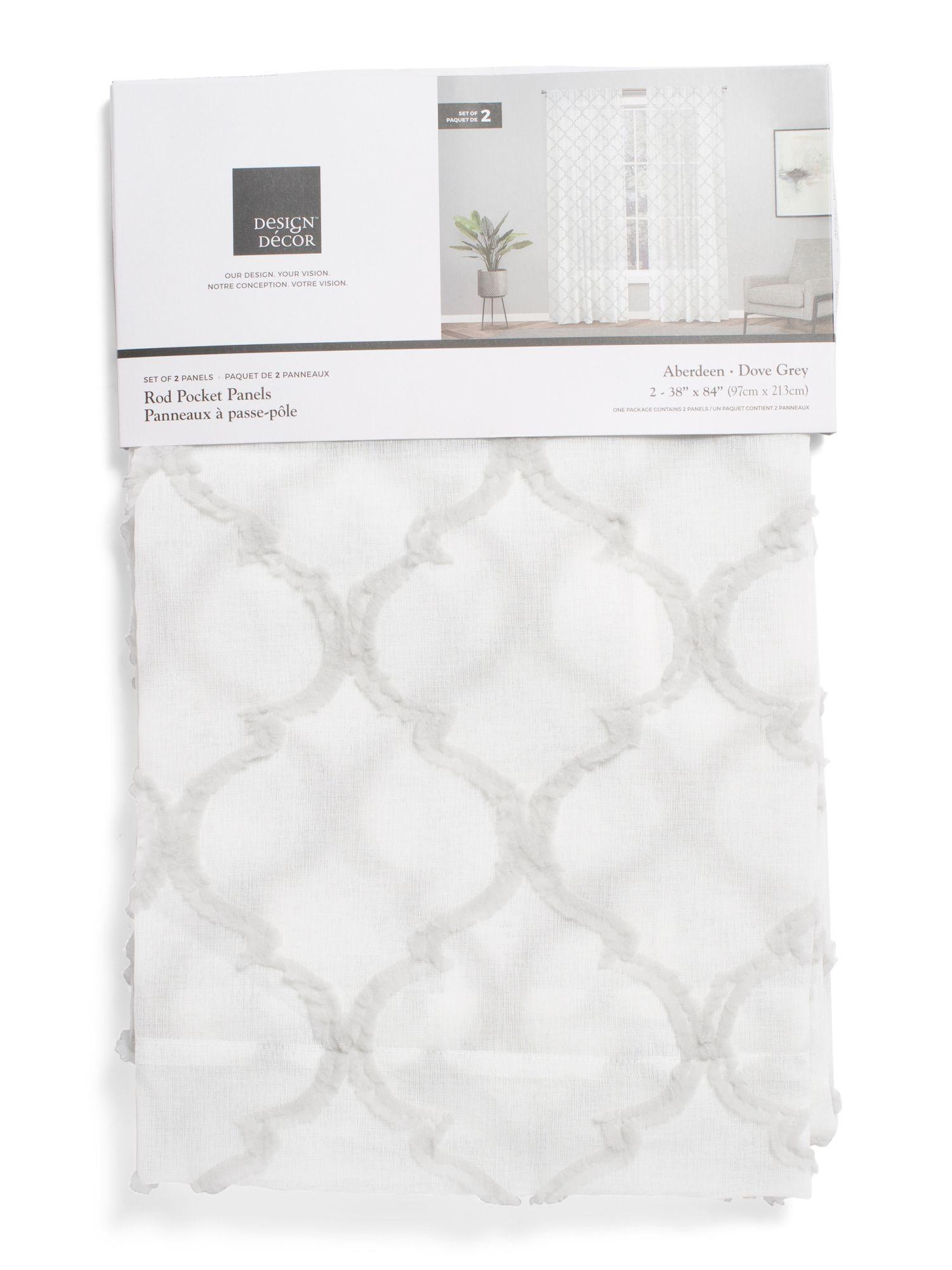 38x84 Set Of 2 Aberdeen Linen Look Curtains Living Room T J