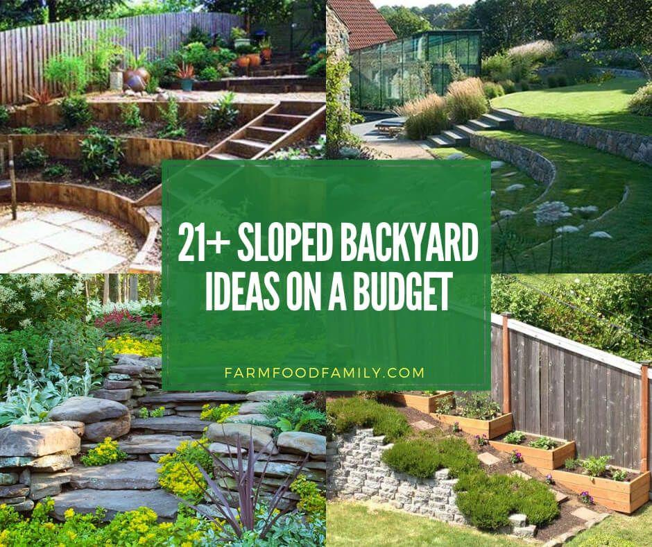 50+ Best Sloped Backyard Landscaping Ideas & Designs On A ... on Small Sloped Backyard Ideas On A Budget id=60135