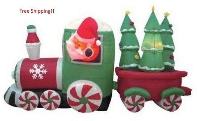 Santa Claus Christmas Inflatable Airblown Xmas Yard Decorations