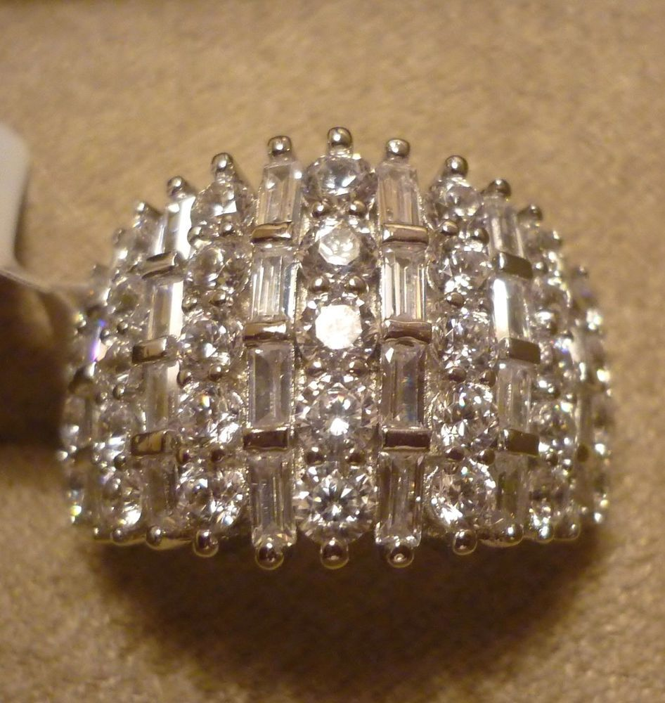 Bella Luce Rhodium Over Sterling Silver Ring Nwt Size Or  Jewelry &  Watches, Engagement & Wedding, Engagement Rings  Ebay!
