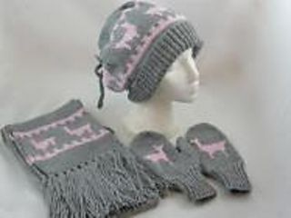 Adults Llama Hat, Gloves and Scarf Set   Free Knitting and ...