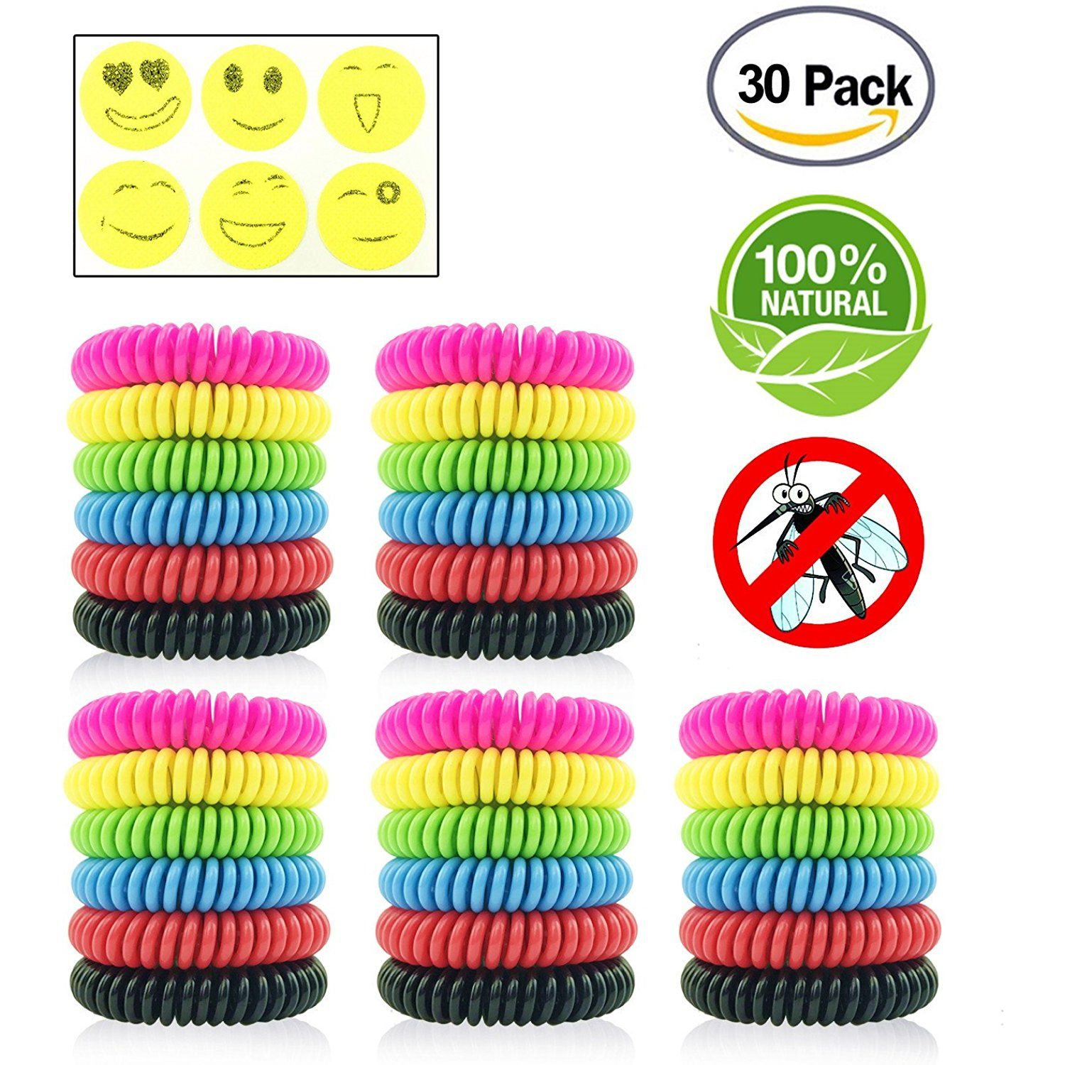Mosquito Repellent Bracelets\Bands For Kids Adults Outdoor Activities Pack Of 5