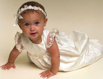 coleccion de traje de bautizo para bebe nia