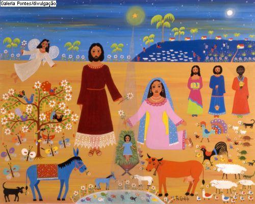 Resultado de imagem para imagens arte naif natal