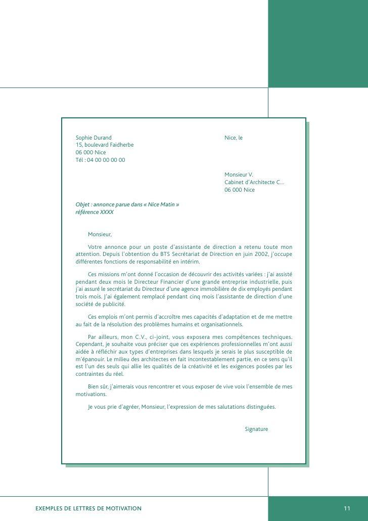 Exemples De Lettres De Motivation Job Cv Resume Tips Modern Resume Template