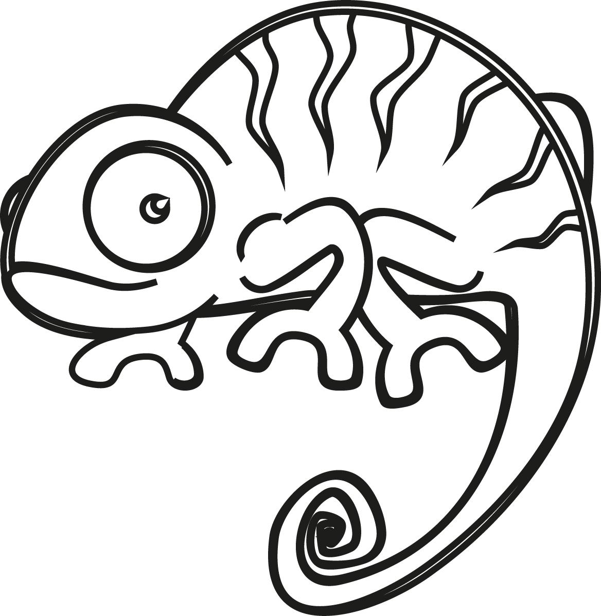Chameleon Outline Tattoo: Chameleon Tattoo, Chameleon Y Art