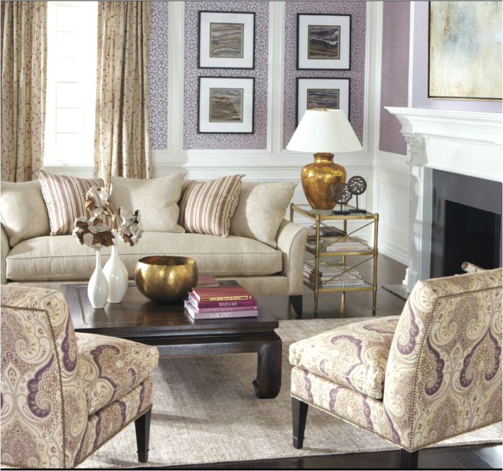 Interior Design Trends: Gold. Ethan Allen Living Room With ...