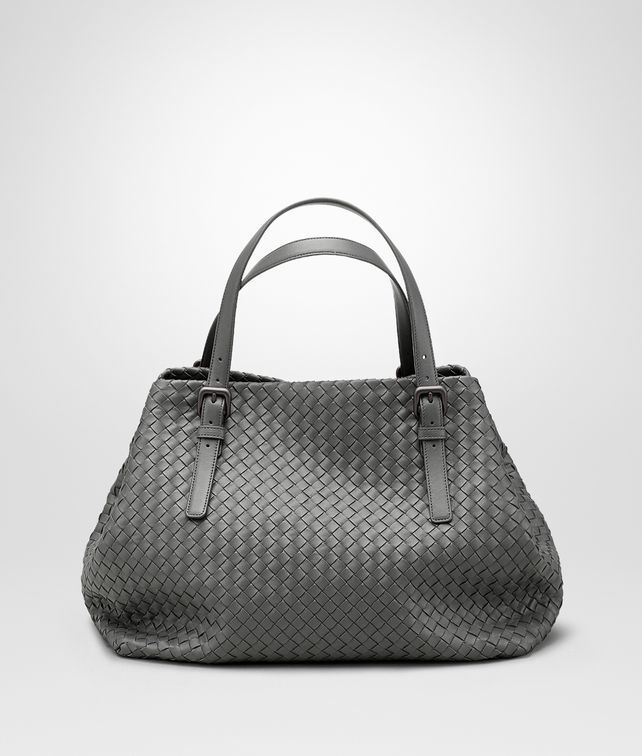bfd5f20974 Light Grey Intrecciato Nappa Large Cesta Bag - Bottega Veneta