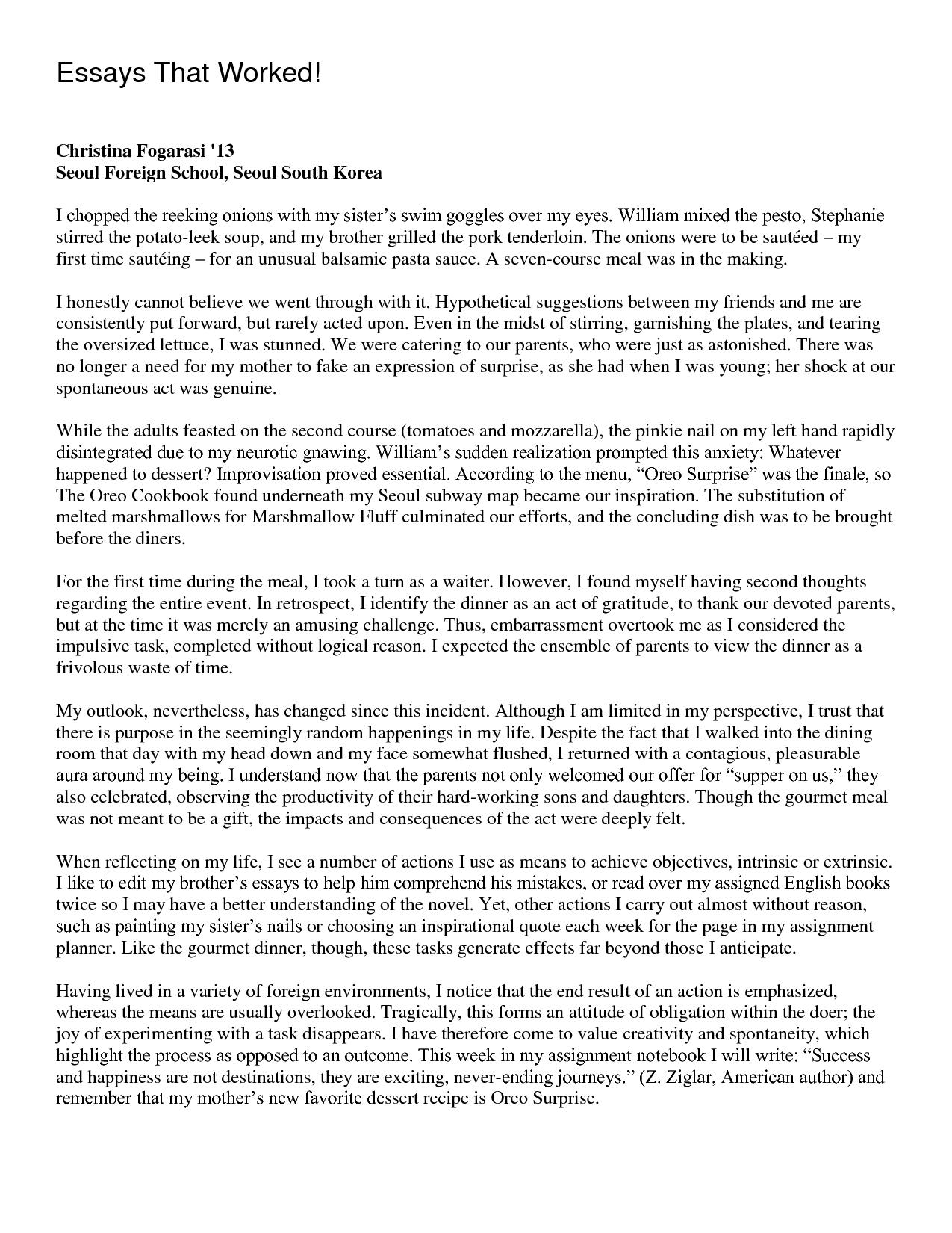 Quick admission highschool essay
