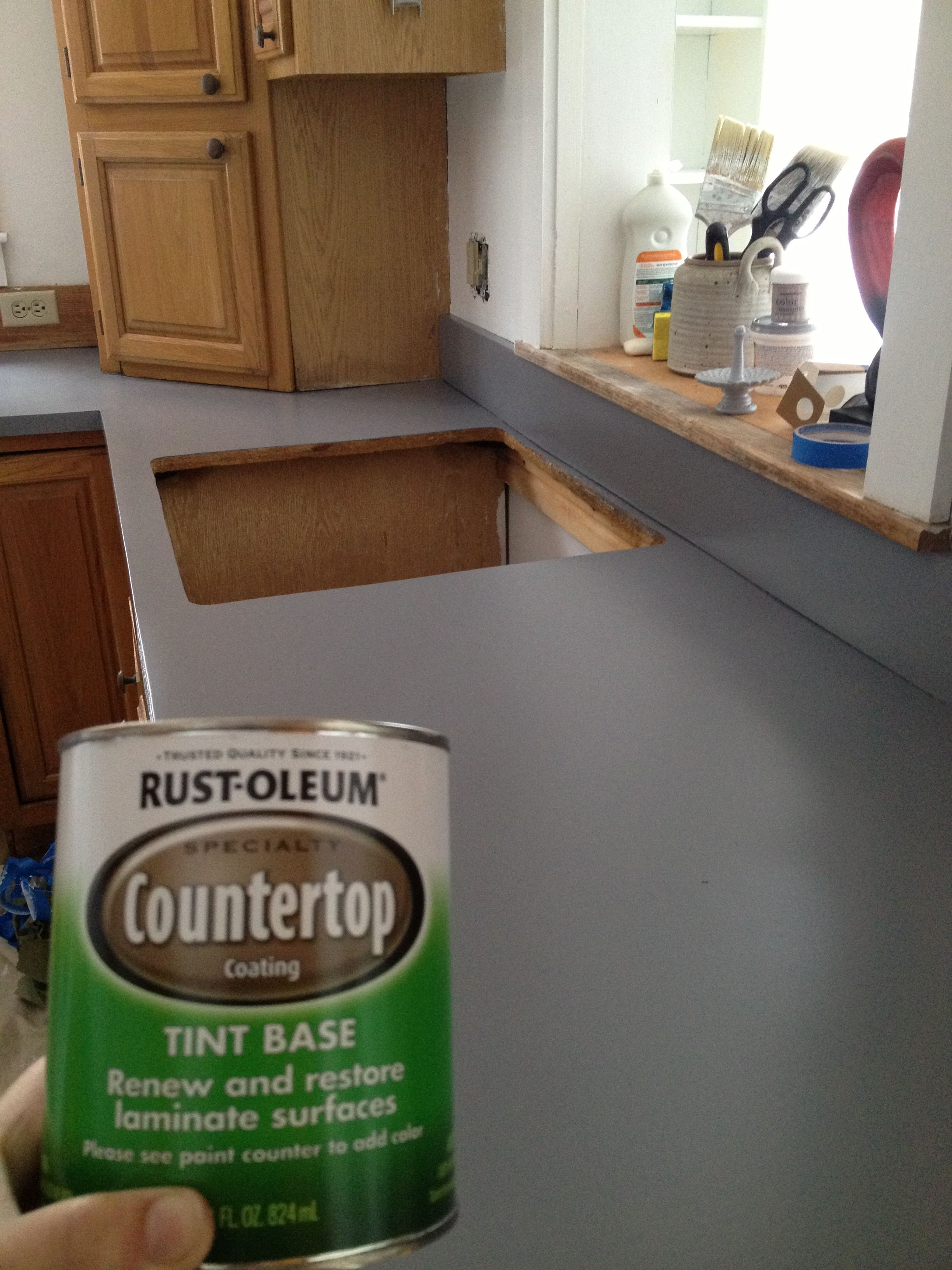 We Painted Our Counter Tops With Rust Oleum Counter Top Coating