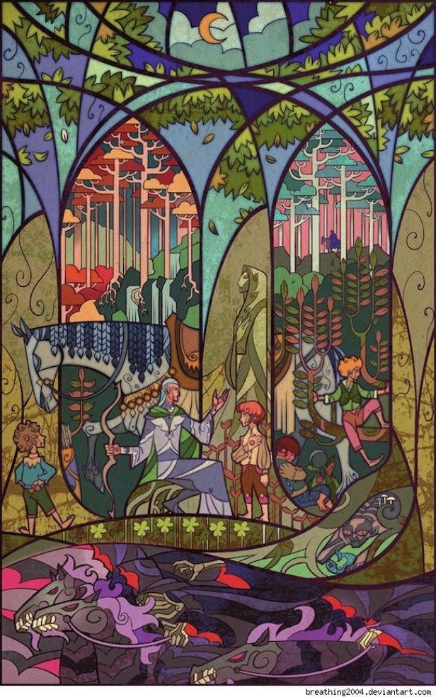 Jian Guo Illuminates Scenes from 'The Hobbit' and 'Lord of the Rings' [Art]