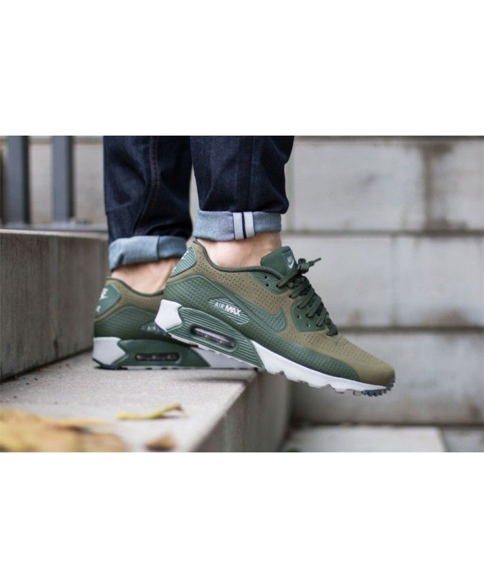 Nike Air Max 90 Ultra Moire Olive Gris Trainers nike air max 90