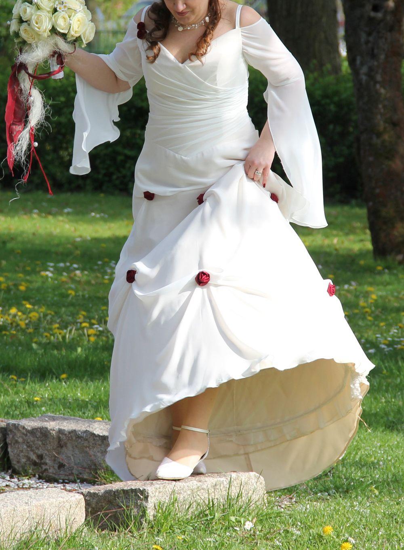 Hochzeitskleid mollig langarm Elfenbraut | Plus Size Hochzeit ...