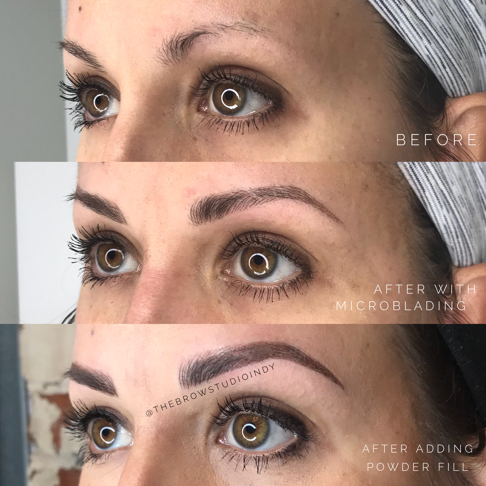 From Microblading To A Combination Brow Before And After