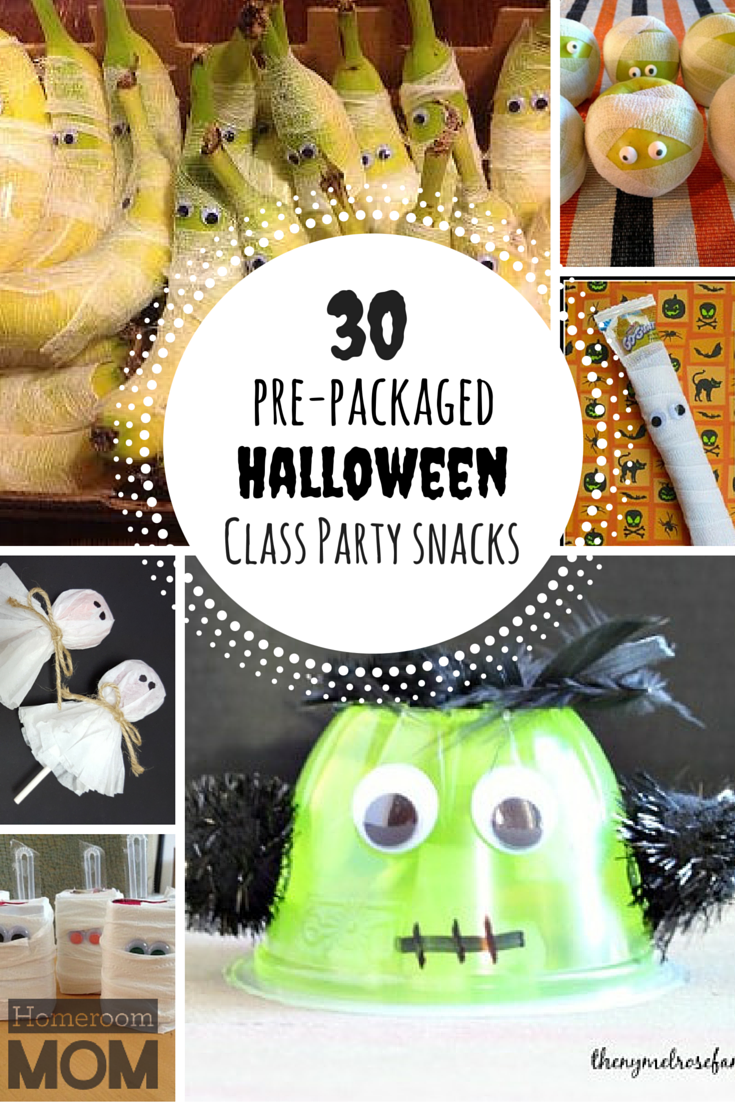 Pre packaged halloween class party snack ideas party for Halloween food ideas for preschoolers
