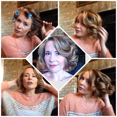 Who Needs Heat Rediscover The Magic Of Velcro Roller Curlers Hot Rollers Hair Roller Curls How To Curl Your Hair