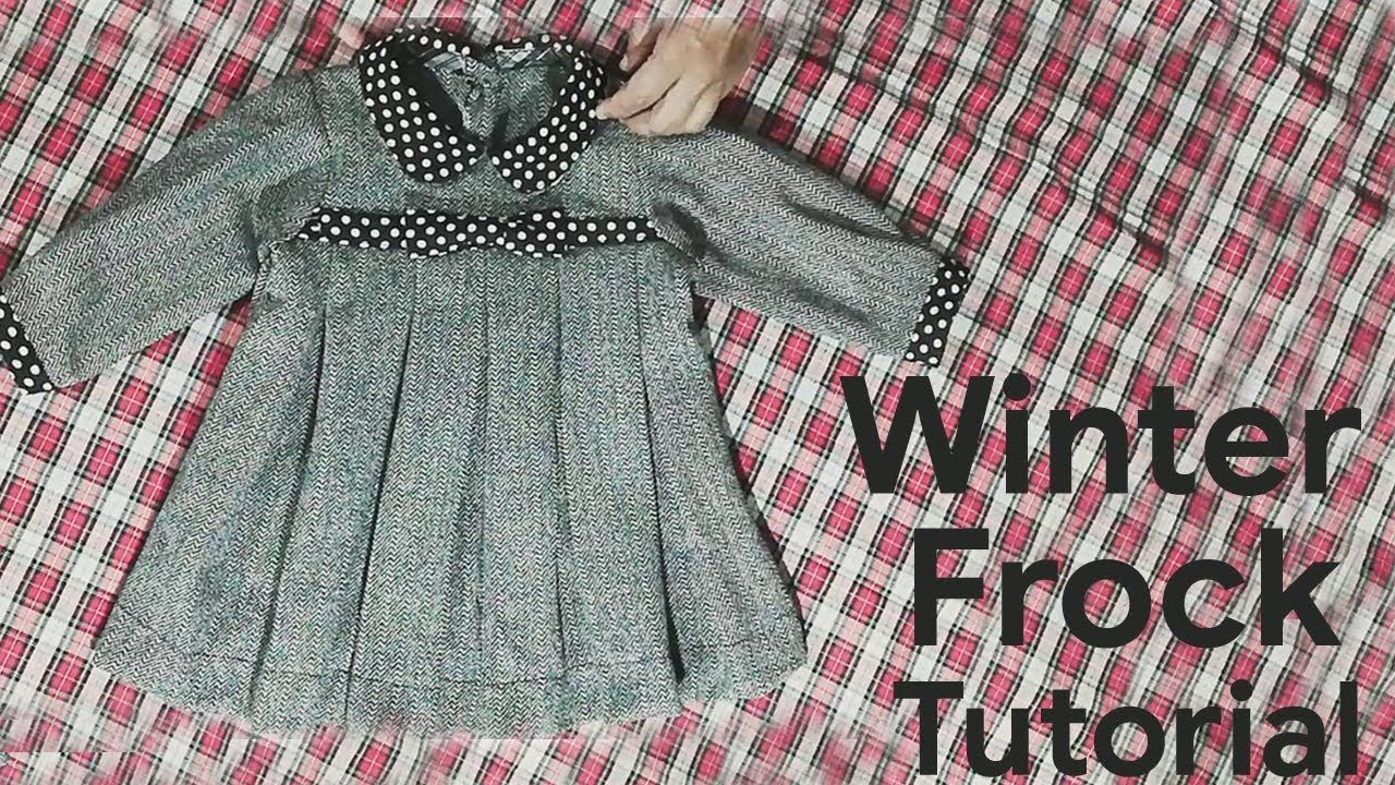 c872221ba4 Stylish Winter Baby Frock Cutting and Stitching in Urdu/Hindi ...