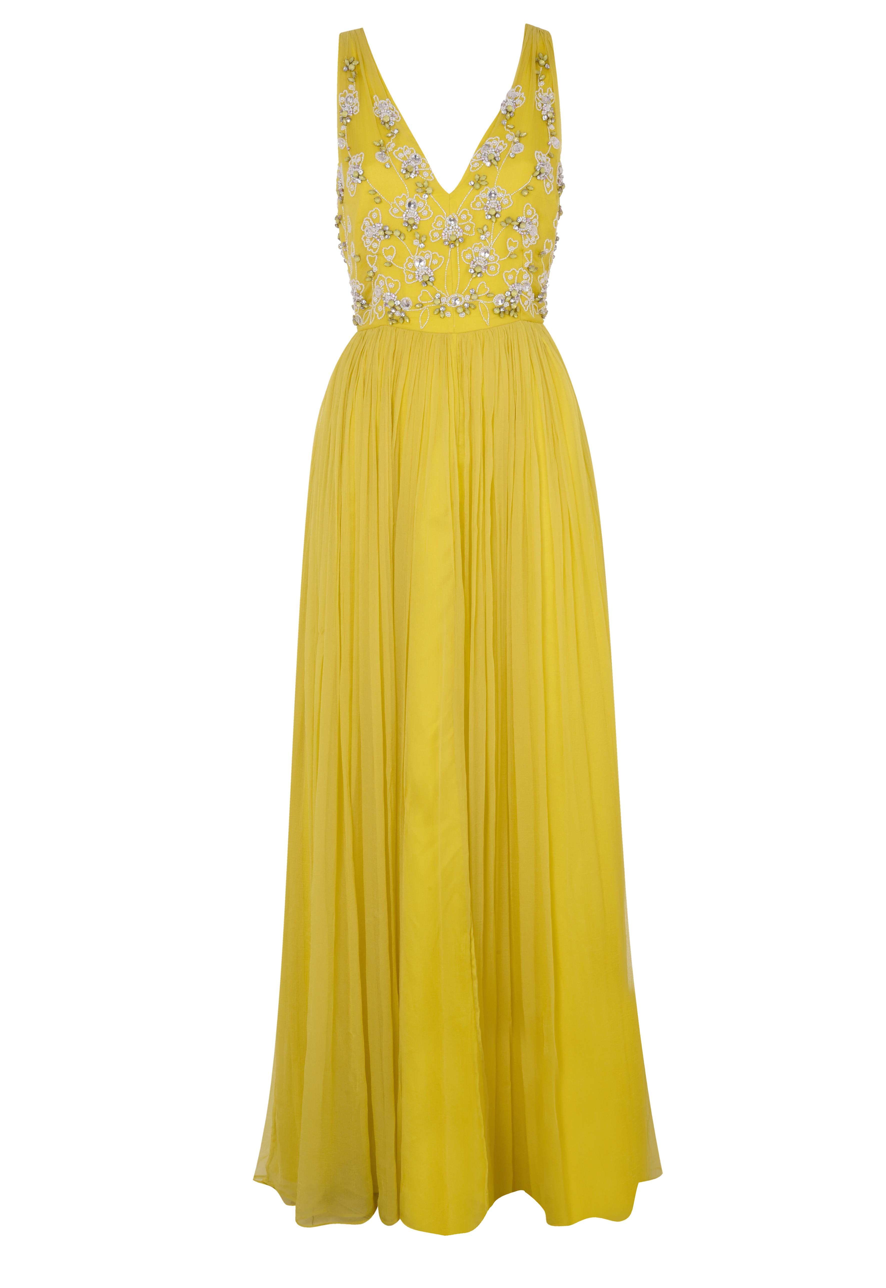 Yellow gown, Debenhams. High street bridesmaid dresses 2018 ...