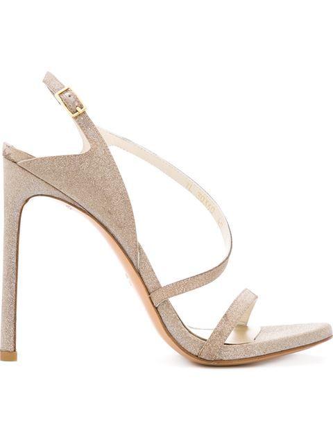8da13cfb965e STUART WEITZMAN Glittery Metallic High Heels Sandals.  stuartweitzman  shoes   sandals