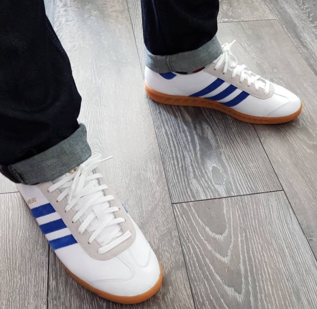 Hamburg on feet on the street | Sneakers, Football casuals