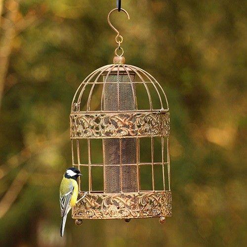 antique bird feeders | Vintage Caged Seed Feeders