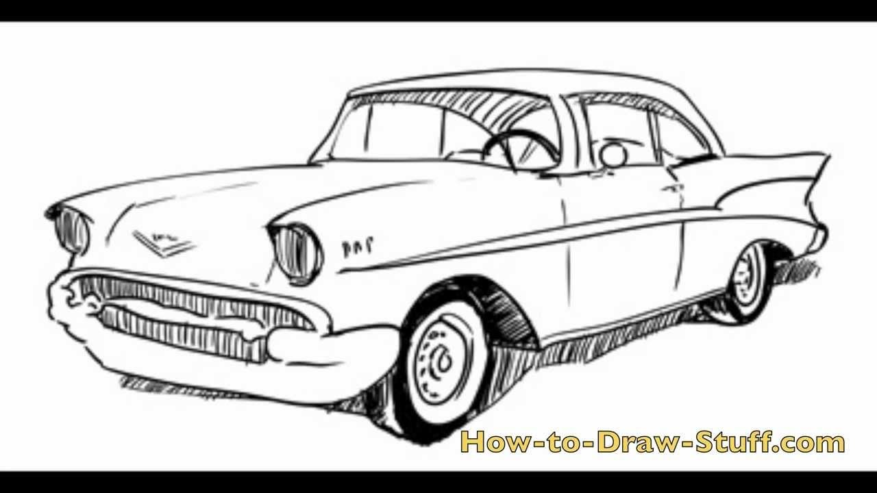 how to draw a 57 chevy step by step hotrods rod art With 1955 chevy step van