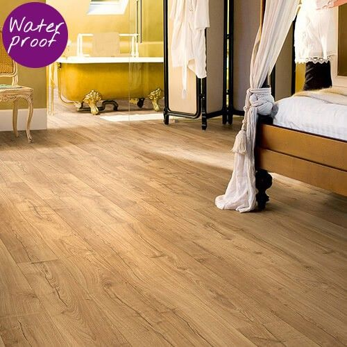 Waterproof Laminate, Extend Your Bathroom Floor Right Through Your Home.  Quick Step Impressive
