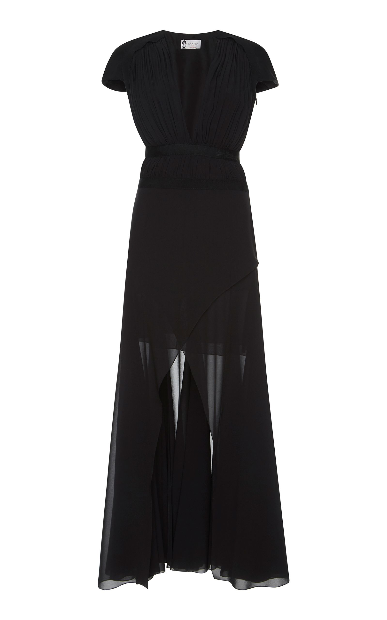 LANVIN DRAPED GEORGETTE EVENING GOWN. #lanvin #cloth #