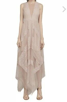 2f2f664dabf32 Details about bcbg maxazria Asymmetrical Lace Black Dress Size 12 ...