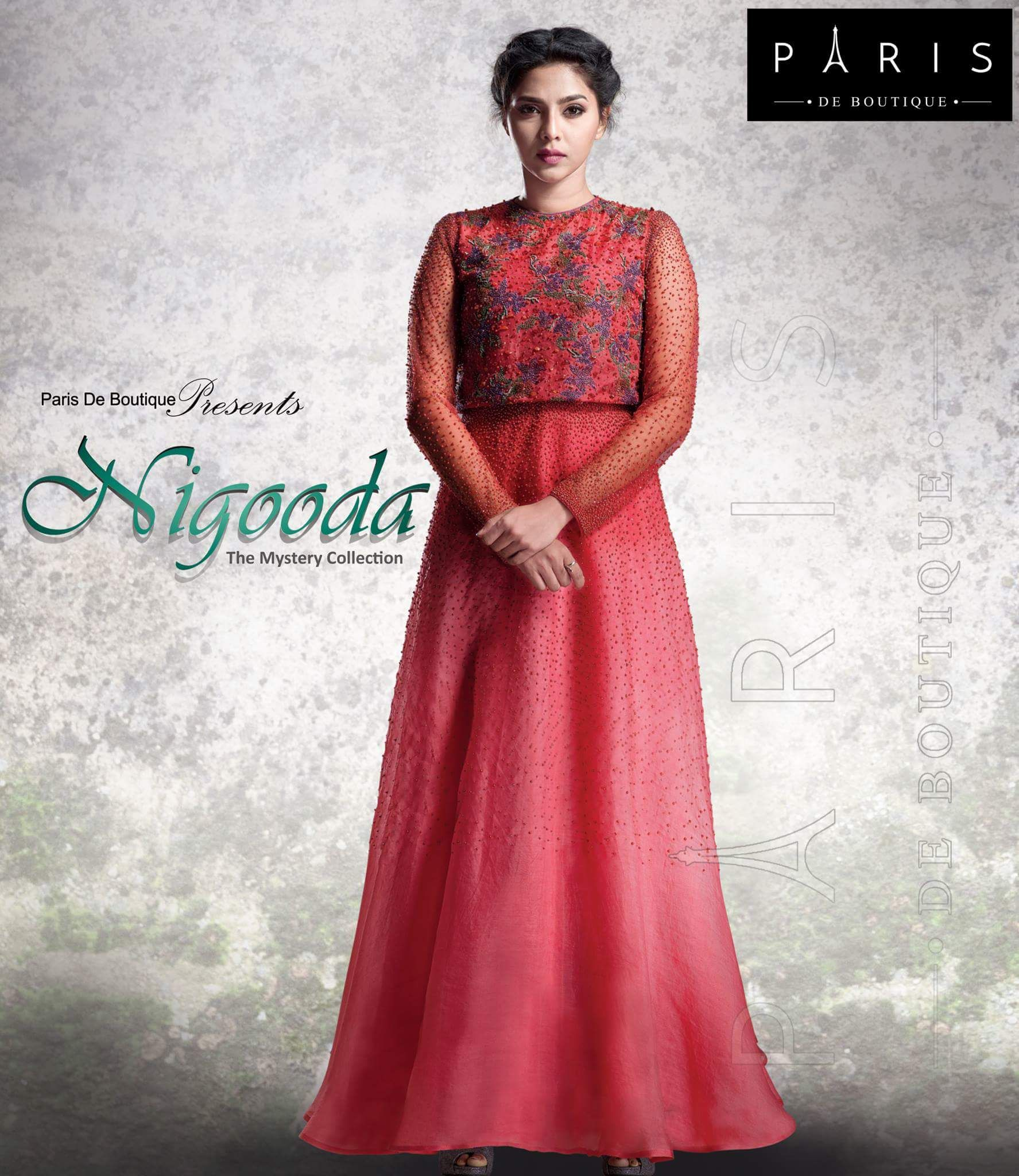 86a8b5f34 Gown Party Wear, Boutique, Embroidery Materials, Lehenga Gown, Elegant  Outfit, Gowns