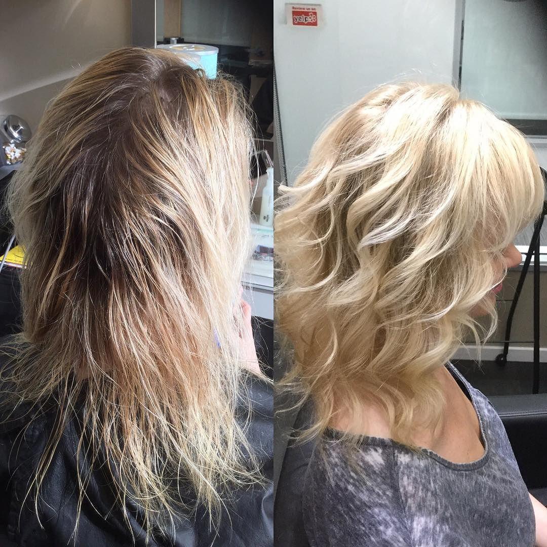 No Bleach Needed Babylights Are My Technique 2 Highlift Formula S Double 40 Vol With Olaplex Bev Healthy Hair Journey Pinterest Hair Hair Colorist
