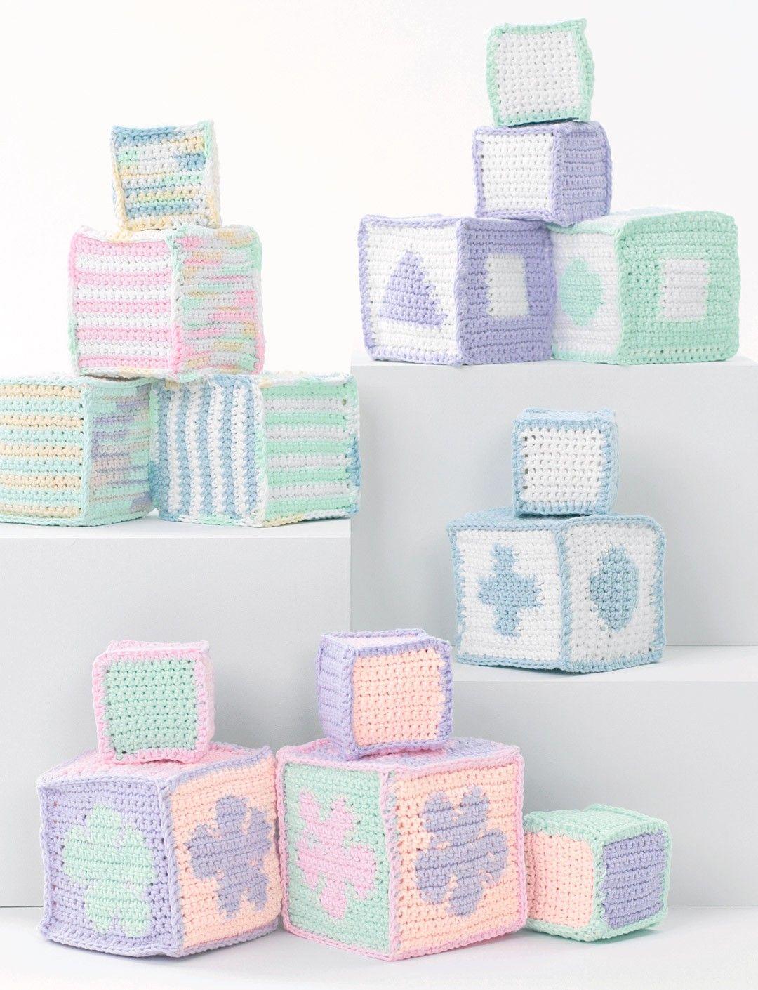 Yarnspirations.com - Lily Baby's Blocks - Patterns  | Yarnspirations