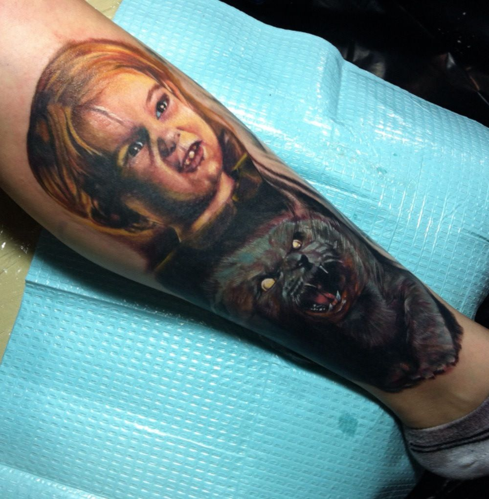 20 awesome horror movie tattoos awesome pets and movie tattoos. Black Bedroom Furniture Sets. Home Design Ideas
