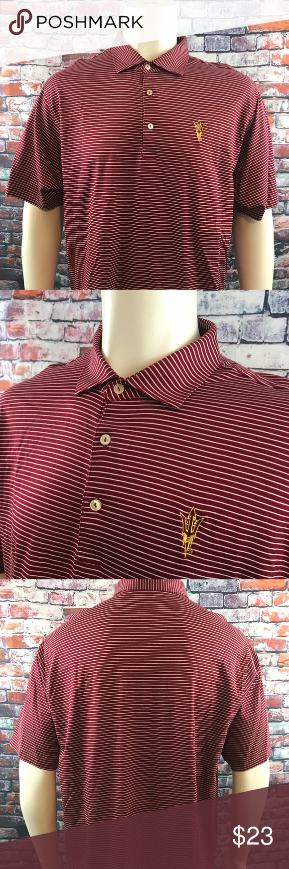 Peter Millar ASU Sun Devils Logo Polo Golf shirt Men's