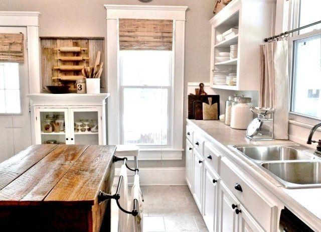 Meuble vintage en cuisine  30 photos d\u0027îlots très stylés Cottage