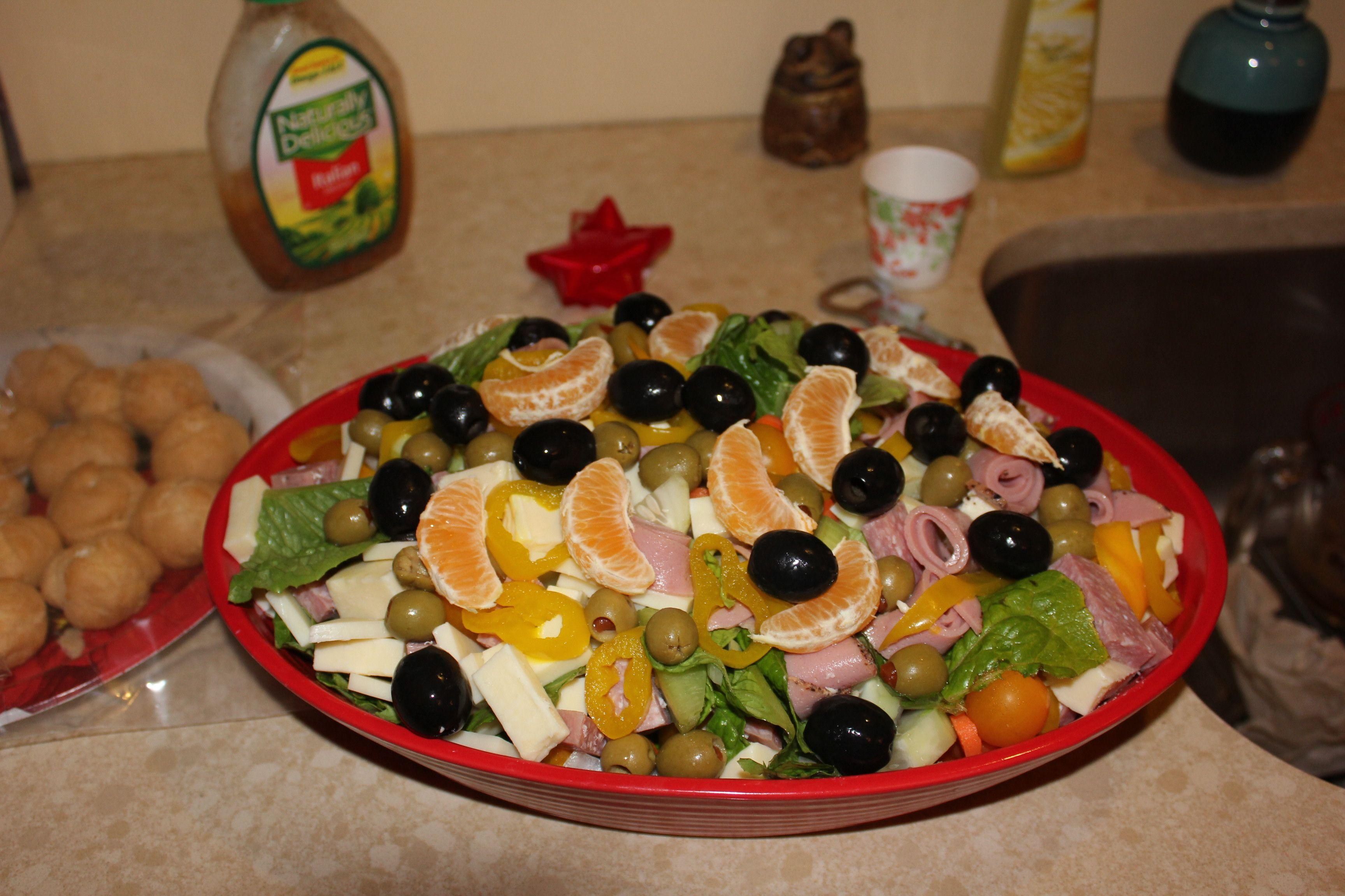 Paul's antipasto orange salad NYE '15 for Mary and Tony's party