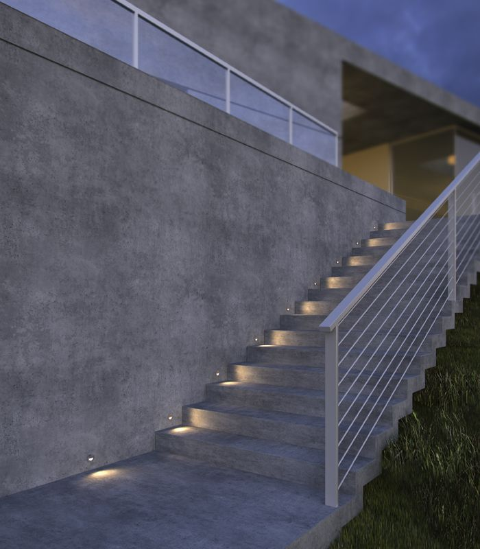exterior stairs outdoor stair lighting